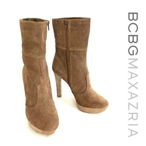 """New BCBG MaxAzria Sz 10 """"Aubrey"""" Ankle Boots Suede"""